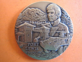 Fort Lewis,United States Army Challange Coin Large BRASS--RB11-2 - $4.90