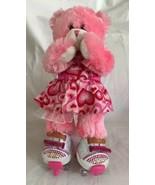 BABW Build A Bear Pink Fur Magnet Paws Cheeks Plush Heart Sneakers & Skates - $24.74