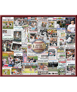 Boston Red Sox 2007 World Series Newspaper Collage Print. Includes 30 He... - $19.99+