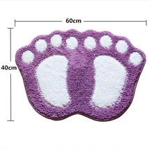 Bath Mats Water Absorption Mini Carpet Foot Print Non Slip Toilet Microfiber Pad image 9