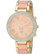 U.S. Polo Assn. Women's USC40063 Gold-Tone And Pink Bracelet Watch - $70.55 CAD