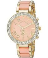 U.S. Polo Assn. Women's USC40063 Gold-Tone And Pink Bracelet Watch - £40.85 GBP