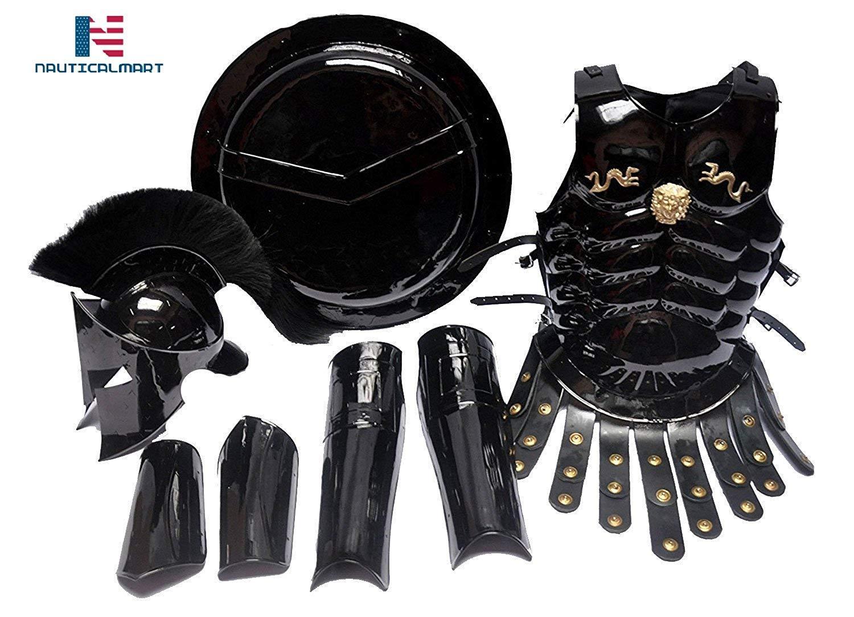 Arm MEDIEVAL 300 King SPARTAN Helmet Muscule Armor Leg Guard /& Shield War