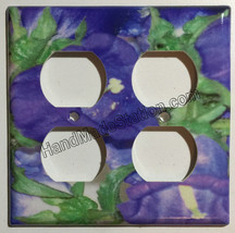 Flash Purple Flower Light Switch Power Outlet wall Cover Plate & more Home Decor image 3
