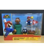 """Super Mario Acorn Plains Diorama 2.5"""" Figure Set with Accessories - $34.58"""