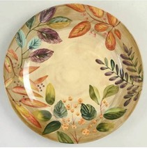 Plates Shadowwood by Home Trends Set of 2  11 1/2' Dinner Plates  Floral... - $23.36