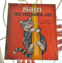 vintage A Little Golden Book Sam the Firehouse Cat Children's Book 1968 ... - £7.54 GBP