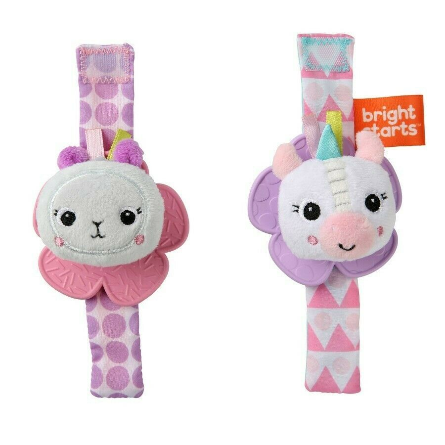 Primary image for Bright Starts Rattle & Teether Wrist Pals Toy - Unicorn & Llama