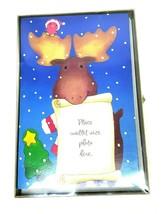 American Greetings Photo Christmas Cards Blue Moose 10 ct Box Kid Holiday - $12.00