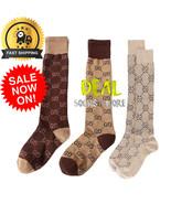 BEST!! GG Knee-High CASUAL Cotton Socks Double G LOGO WOMEN SEXUAL FASHI... - $14.21+