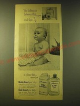 1956 Johnson's Baby Powder and Baby Oil Ad - The difference btween this - $14.99