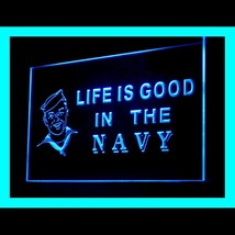 150073B Navy Life is Good US Heal SEALs Commander Army Display LED Light Sign - $18.00