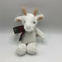 "Aurora White Winter Billy Goat 11"" Plush Velour Plaid Scarf 2019 - $17.81"