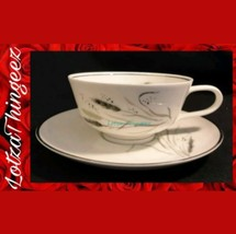 "Pair of Easterling ""Ceres"" Vera Gray Wheat Tea Cup & Saucers - $14.25"