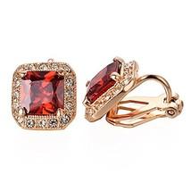 Yoursfs Square Cubic Zirconia Earrings For Women,Non Pierced Earrings,Im... - $15.56