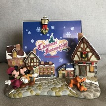 Rare Tokyo Disneyland Christmas Fantasy 1999 3D Photo Frame Stand Figure Mickey - $84.15
