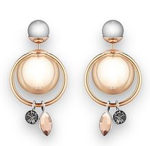 Authentic Christian Dior 2016 Mise En Dior Crystal Dangle Pearl Tribal Earrings - $429.99