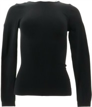 Nearly Nude Seamless Long-Slv Shaping Tee BLACK M/L NEW 584-890 - $21.76