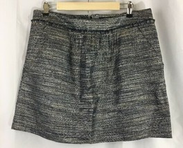 Womans Gap Metalic Striped Skirt With Pockets Size 14 - $21.76