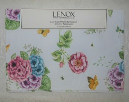 4 Lenox Butterfly Meadow Reversible Water Repellent Placemats NWT FREE S... - $29.99