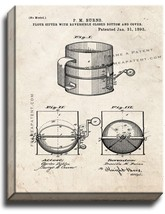 Flour Sifter Patent Print Old Look on Canvas - $69.95+