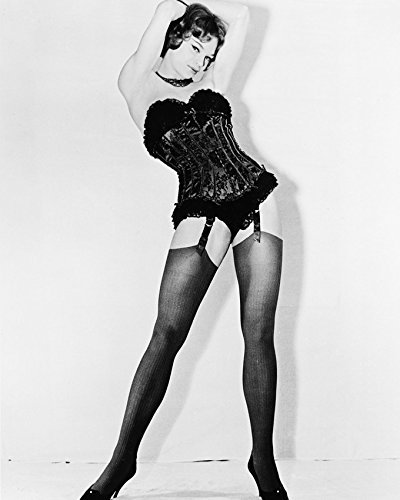 Primary image for Juliet Prowse Sexy Leggy Pin Up B&W Print 16x20 Canvas Giclee