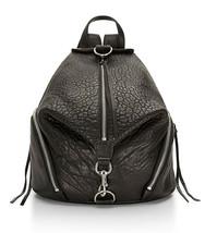 Nwt Rebecca Minkoff Julian Backpack 100% Leather Buckle Silver Black HS16EBLB01 - $247.50