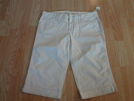 Youth Girls Aeropostale NWT 9/10 Capris White Pants MSRP $39.50 - $18.49