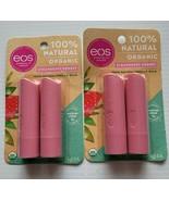 2 pks eos Lasting Hydration Organic Lip Care Strawberry Sorbet 4 Sticks ... - $10.00