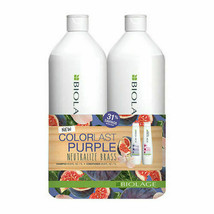 Matrix Biolage ColorLast Purple Shampoo Conditioner 33.8 Oz Liter Duo - $34.95