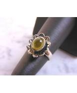 Womens Vintage Estate Sterling Silver Modernist Floral Mood Ring 3.5g, E... - $19.79