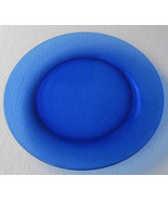 "Arcoroc Cobalt Blue Extra Large 10 1/2"" Thick Glass Dinner Plate - New- ... - $11.99"