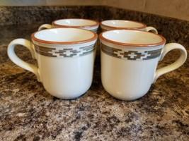 Four (4) Noritake PUEBLO MOON Coffee Mugs 8457 - $29.35
