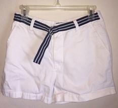 Ralph Lauren Polo White Denim Shorts Size 6 Womens Vintage - $39.59
