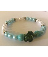 Pearl Turtle Stretch Bracelet. Help Support Wounded Warrior  - $4.55+