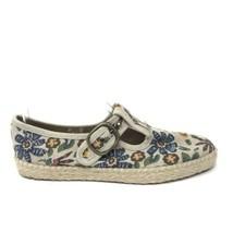Liz Claiborne Vintage Sz 7.5 Floral Comfort Espadrille Mary Jane Flats D... - $32.71