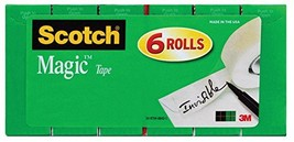 Scotch Magic Tape, Standard Width, Engineered for Office and Home Use, M... - ₹1,329.84 INR
