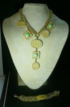 Vintage Les Bernard Egyptian Necklace & Bracelet - $173.25