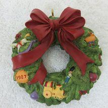 Vintage 1987 Hallmark Keepsake Ornament Wreath of Memories in Original Box image 6
