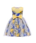 Flower Girl Dresses Floral Pattern Bowknot Communion Dresses Child Gowns - $39.00