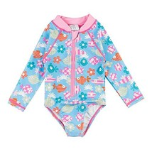Wishere Baby Girl Sunsuit One-Piece Swimsuit Rash Guard Swimwear - $17.07