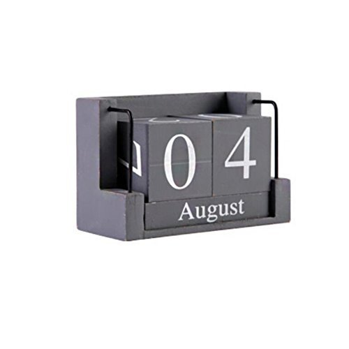 George Jimmy Wooden Permanent Calendar Creative Calendar Decoration for Home/Off - $35.37