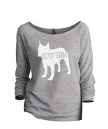 Thread Tank Boston Terrier Dog Silhouette Women's Slouchy 3/4 Sleeves Ra... - $24.99+