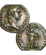 DOMITIAN / Minerva, Owl on Galley. Ancient Roman Silver Denarius Coin Ro... - $233.10