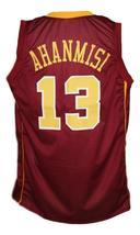Maverick Ahanmisi #13 Custom College Basketball Jersey New Sewn Maroon Any Size image 2