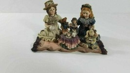 Boyds Dollstone Sarah & Heather Elliot Dolly & Amelia Tea For Four 1995 - $19.80