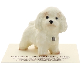 Hagen-Renaker Miniature Ceramic Dog Figurine Bichon Frise image 1