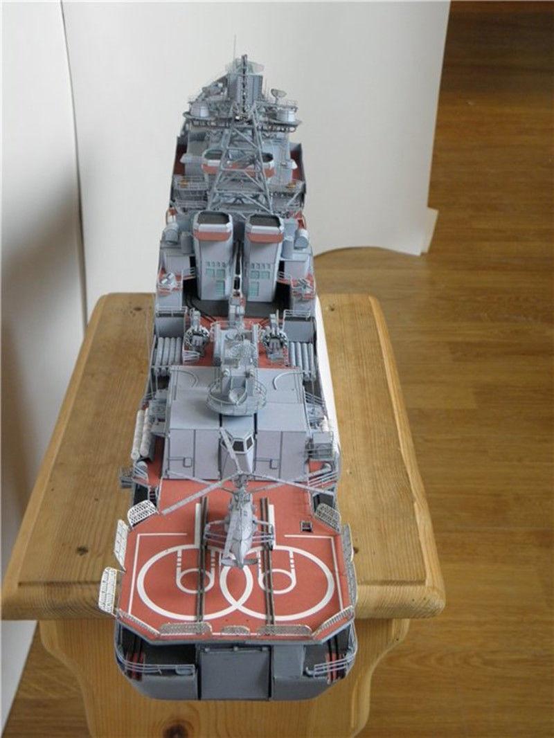 82cm DIY 3D Paper Model Battleship Harlem and 50 similar items