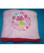 Kidsline Baby Blanket Girls Little Miss Matched MONKEY Soft PINK Plush 3... - $25.13