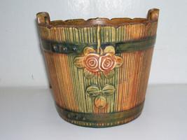 "Antique Weller Woodrose 6"" Jardiniere Pre-1920's Weller Mark RARE - $100.00"